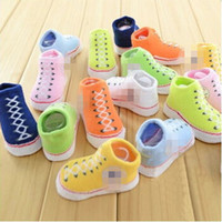boot socks - 2015 spring Baby Infant Shoe Socks BABY INFANT Boys Girls CRIB SHOES BOOTIES SOCKS boot sock M with Original Box babies clothes hot sale