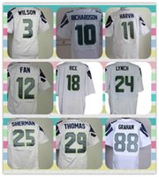 american football jersey products - New Product American Football Elite Seattle Wilson Fan Harvin Lynch Sherman Thomas RICHAROSON White Men s Jersey