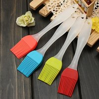 Wholesale 1pcs Temperature resistant Silicone Bakeware Utensil Pastry Basting BBQ Brush Baking Cooking oil butter brushes Colors