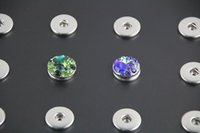 Wholesale new style pc silver plated mm snap button display jewelry for ginger leather bracelets