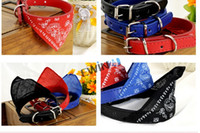 Wholesale New Small Adjustable Pet Dog Puppy Cat Neck Scarf Fashionable Scarf Bandana with Collar Neckerchief