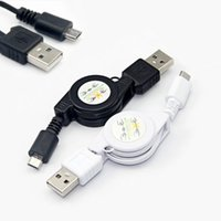 Wholesale 1 x Micro USB A to USB B Male Retractable Data Sync Charger Cable Cord New Colors
