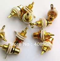 Wholesale 40pcs Gold RCA Female Connector Socket Adapter Plug