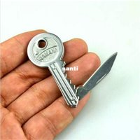 carbon steel ring - Mini Key Knife Fold Key Pocket Knife Key Chain Knife Peeler Portable Camping Key Ring Knife Tool