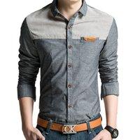 oxford shirts - Oxford Men Casual Long Sleeve Mens Fashion Formal Male Shirts Highquality Jeans Denim Shirt