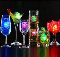 Wholesale Led Bar Ice Cubes - Christmas Decoration Flash Ice Cube WaterActived Flash Led Light Put Into Water Drink Flash Automatically for Party Wedding Bars