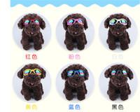 Delicados colores de moda Multi-Color de las gafas de sol gafas de perro de animal doméstico del perrito de ojos a prueba de agua Protección contra el desgaste Pequeño envío rápido