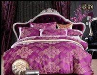 advantage shipping - d022 Multi color bedding set four piece set wedding advantages and CASS Satin Jacquard piece suit