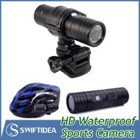 best sports video - Action Camera Helmet Motorcycle Bike Camera recorder waterproof HD P portable DVR mini DV video torch hidden outdoor sports best SJ2000