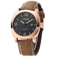 Wholesale Top Sale CURREN Watches Men Top Brand Luxury Men Quartz Wrist Watches Men Cow Leather Watch Waterproof Military Wrist watch