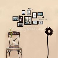 background pictures photos - Fashion DIY cm Picture Photo Frame Set Memory PVC Vinyl Decal Decor House Bedroom Background Black Art Wall Stickers