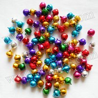 aluminum ornaments - 1000PCS mm Metal jingle bell Lacing bells Doll accessories Christmas oranment DIY material Craft bells Promotion gift