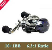 Wholesale Free Shiping Bait Casting Ratio Gear BB Lure Reel baitcasting Left or Right Reel bait Low Profile Fishing Tackle