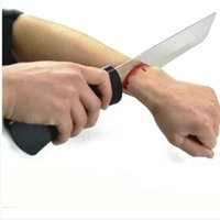 arm magic trick - Knife Through Arm Bloody Arm Knife Magic Tricks Magic Accessories Close up Satge Magic props