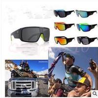 Wholesale 20pcs CCA2937 Hot Sale Brand New Summer Big Frame Reflective Sunglasses UV400 Sunglasses Domo Brand Sports Sun Glasses Unisex Sunglasses