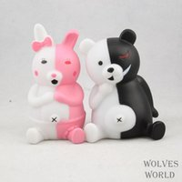 bear piggy bank - Japan Anime Danganronpa monokuma Black and White Bear Pink Couples piggy bank Toys set Doll hand to do