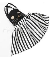 Cheap Hot sell summer children stripe skirt girl cotton cartoon pattern Shoulder strap skirt kids clothing A