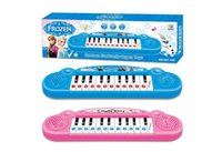 Wholesale Musical Instruments Cartoon Frozen Kids Toy Frozen Cartoon Electronic Organ Toy Keyboard Electronic Baby Piano with Music Songs Free Ship