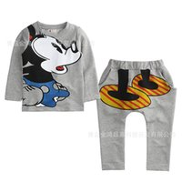 boys and girls clothing - 2 Piece Sets Children Cartoon Printed Casual Sets Boy and Girl Cartoon Clothes Sets Kids Outfits Set G2E83