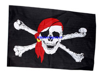 Wholesale 50pcs Halloween Decoration cm Pirate Flag Jolly Roger Hanging With Grommet Halloween cospaly costumes Party props