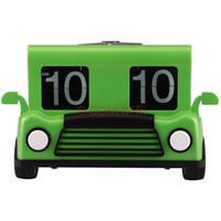 antique truck models - 2016 Creative fashion simple Truck model flip clock Holiday gift ideas Block quartz wall clock
