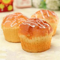 Wholesale High quality PC Yummy Muffin Cupcake Soft Squishy Bread Baby Gift Cafe Decoration