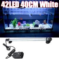Wholesale New Aquarium Fish Tank LED Light Super Blue White CM Bar Submersible Waterproof Clip Lamp V