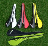 Wholesale yellow Bicycle Road Carbon colors Full carbon fiber bicycle saddle road cycling bike seat cushion saddle matte