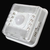 Wholesale 8 LEDs Light PIR Auto Sensor Motion Detector Wireless Infrared Home Outdoor Lamp LEG_224
