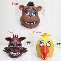 bear halloween mask - 6pcs FNAF Five Nights At Freddy s Deluxe Quality Adult Novelty Fancy Dress Rubber Latex bear Mask for Party Halloween