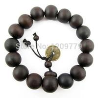 achat en gros de perles poignet de prière-Bouddhiste tibétain décor prière perles Bracelet Bracelet Bracelet ornement Bois Bouddha Billes Femmes Bijoux Religion H5071 P