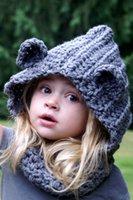 bear hooded scarf - baby Hooded Bear Cowl Animal Hat Hooded Scarf Crochet Hoodie Chunky Crochet Hat Animal Scarf baby girl boys lavender hat