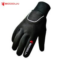 Wholesale Warm Winter Bike Gloves Full Finger Winter Waterproof Anti Cold Riding Full Finger Gloves Slip Resistant Breathable Sports gloves