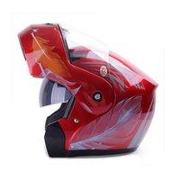 better abs - YEMA Flip up helmet capacete casco moto modular motorcycle Helmet dual lens visor full face helmets better than JIEKAI