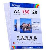 Expreso gratuito A4 (210 * 297 mm) 180g 20 hojas de papel fotográfico de alto brillo impermeable Papel fotográfico Papel tinta, Por una variedad de impresoras de inyección de tinta