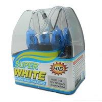 H4 55 6000 New 2Pcs Xenon HOD Super White   Yellow Car Styling Headlight Halogen Bulb H4 12V 55W 100W 6000K