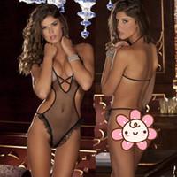 Wholesale 5pcs New Hot Sexy Women Lingerie Sex Suit Fishnet Transparent Lingerie Black