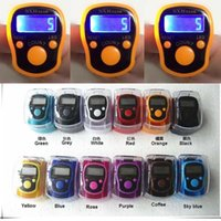 Wholesale ABS digital LED electronic tally counter Manual new ring finger counter With light