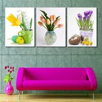 beauty picture frames - 3 Pieces no frame on Canvas Prints potted flower Eggs chick rose Sexy girl beauty women Billiards mountain waterfall moon tree