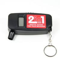 Wholesale Portable in Bar PSI Digital LCD Car Wheel Tire Air Pressure Gauge with Tread Depth Gauge
