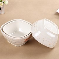 Wholesale Exquisite Dinner Bowls and Spoon Bowls Cheap Dinnerware Dinner Bowls Melamine Material Square Design For Sale
