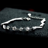 Wholesale Guardian sterling silver bracelet female cute simple Zircon hypoallergenic jewelry gift European and American popular Valentine s