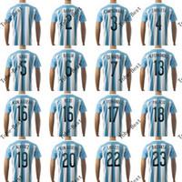 Wholesale Drop Shipping thai quality argentina home jersey messi kun aguero football soccer jersey new uniform shirts accept Mix order