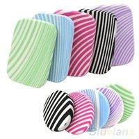 Wholesale 2Pcs Zebra Stripes Makeup Soft Sponge Round Square Cosmetic Face Powder Puff