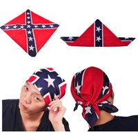 Wholesale Civil War Flag Print Bandanas CM Cotton Confederate Rebel Flag Headbands Fashion Hiphop Headbands New Arrival