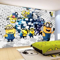 background animations - Custom Photo Wallpaper D Stereo Cartoon Children s Room Bedroom TV Background Murals Non woven Cartoon Animation Wallpaper