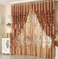 kitchen curtains - New Arrival Curtains Luxury Beaded For Living Room Tulle Blackout Curtain Window Treatment drape In Brown Red Freeshipping