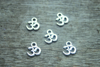 aum symbol - 60ps OM Charms Antique Tibetan Silver Tone Yoga Ohm Aum Symbol charm Pendants x10mm