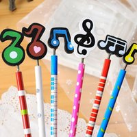 Wholesale C01 selling South Korean stationery Korean cute colored music symbols wooden pencils