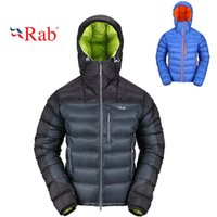 Cheap Fall-RAB winter lightweight warm thick goose down hooded puffer jacket parka men luxury chaqueta el ganso plumas invierno hombre moda